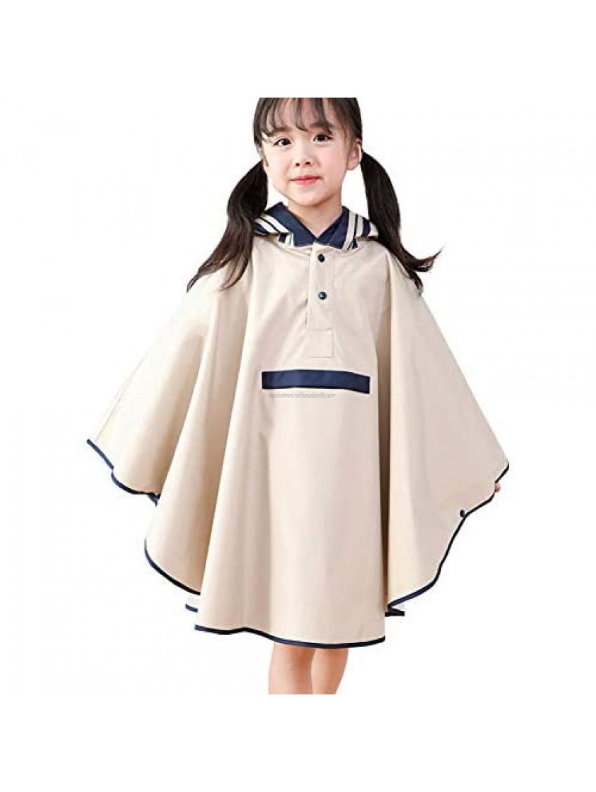 June Hooded Overall Rainsuit for Boys and Girls Cute Ponchos Rain Jacket Raincoats