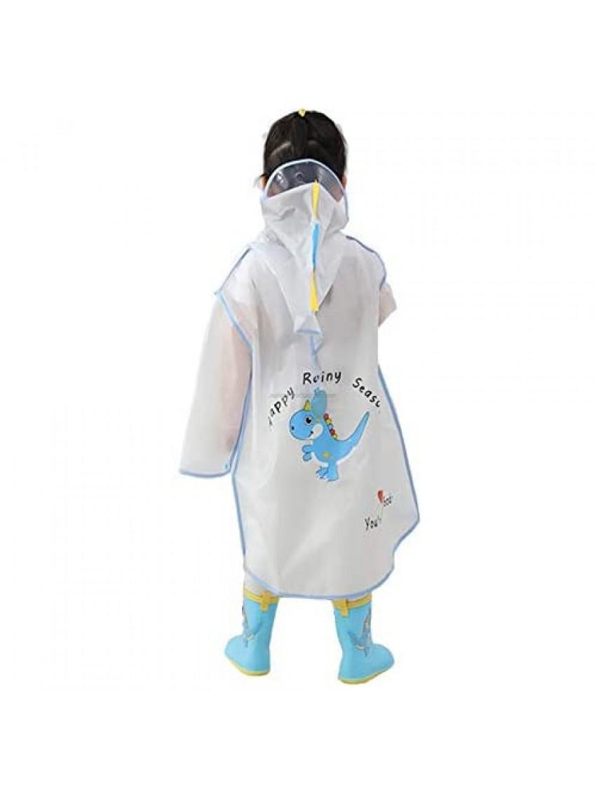 Kids Waterproof Rain Coat Girls Rain Poncho Rainsuit Child Dinosaur Rainwear