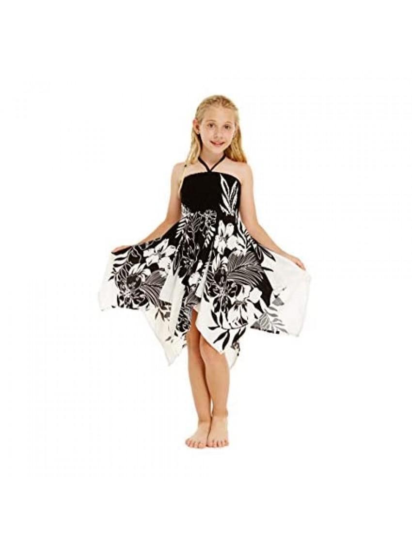 Girl Gypsy Uneven Bottom Hawaiian Luau Dress in Indri