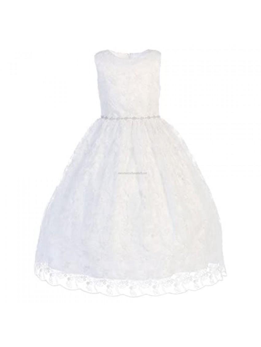 First Communion Dresses for Girls 7-16 Holy 1st Communion Dress White Vestidos de Primera Comunion para Niñas Plus Size