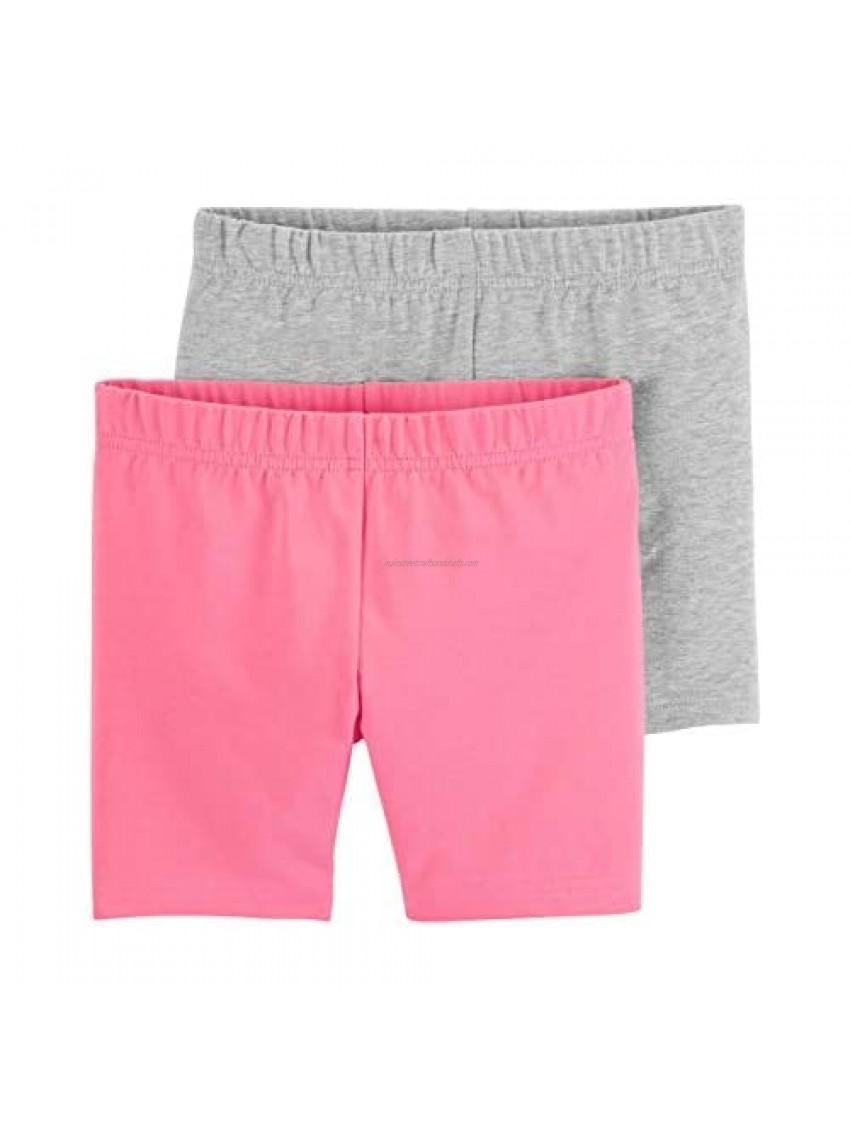 Carter's Girls' Baby  Toddler  Kids  2 Pack Cotton Leggings/Shorts  Pink/Grey  4T