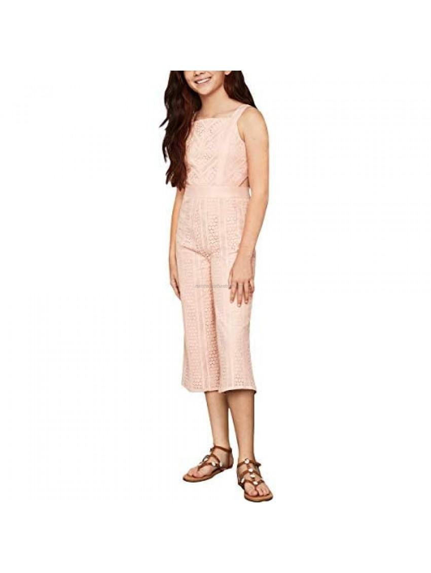 BCBG Girls Girl's Stripe Lace Jumpsuit w/Cutout Side (Big Kids)