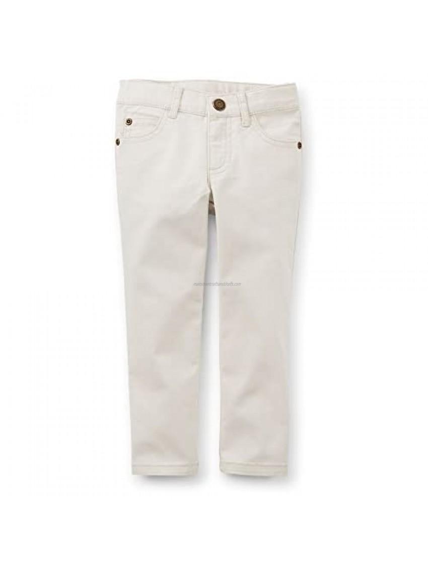Carter's Little Girls' 5 Pocket Stretch Skinny Pants- Ivory