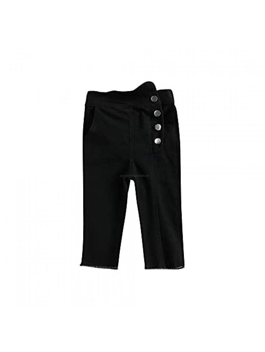 Mildsown Toddler Kid Girls Stretch Soft Denim Pants High Waist Skinny Jeans for Girl (Black  120 cm)