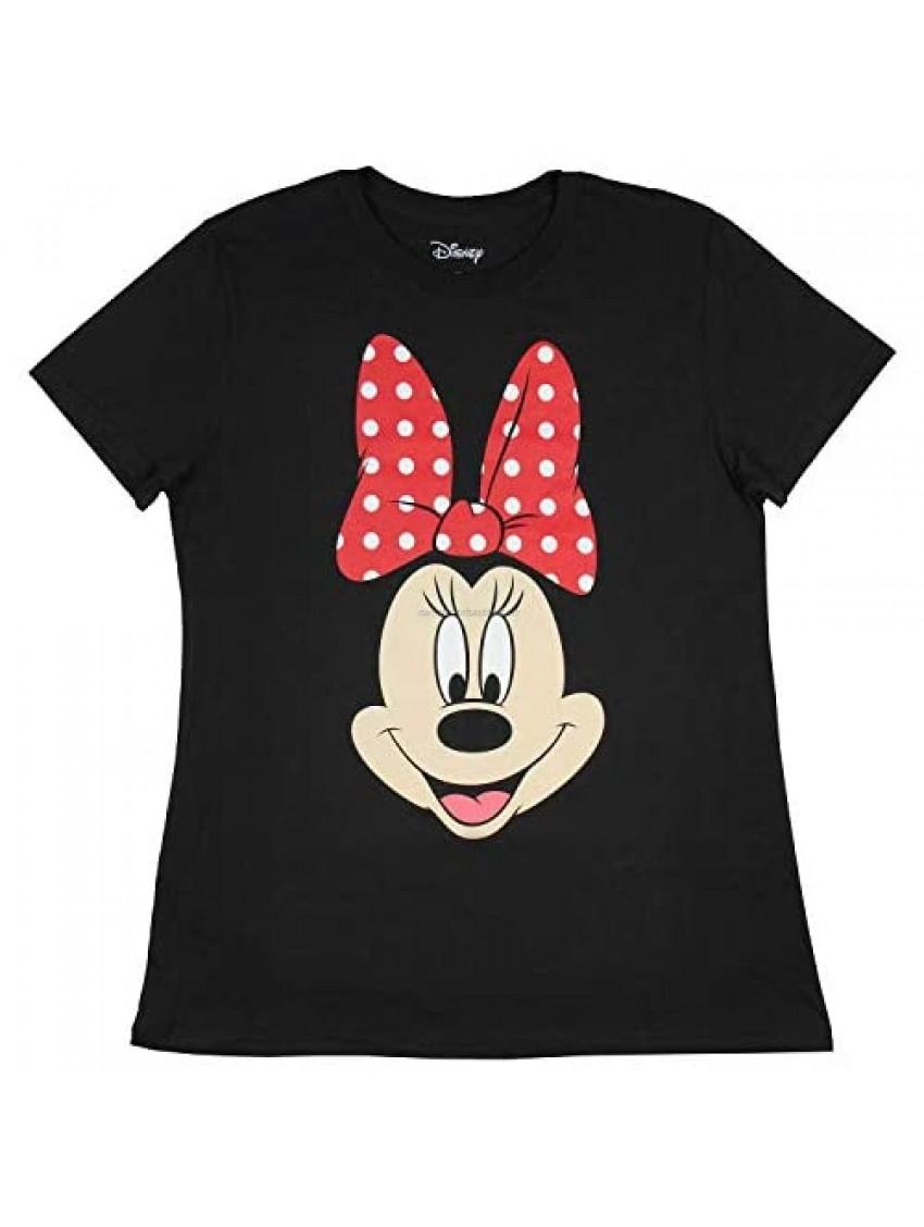 Disney Minnie Mouse Shirt Juniors' I Am Minnie Big Face Officially Licensed Graphic T-Shirt