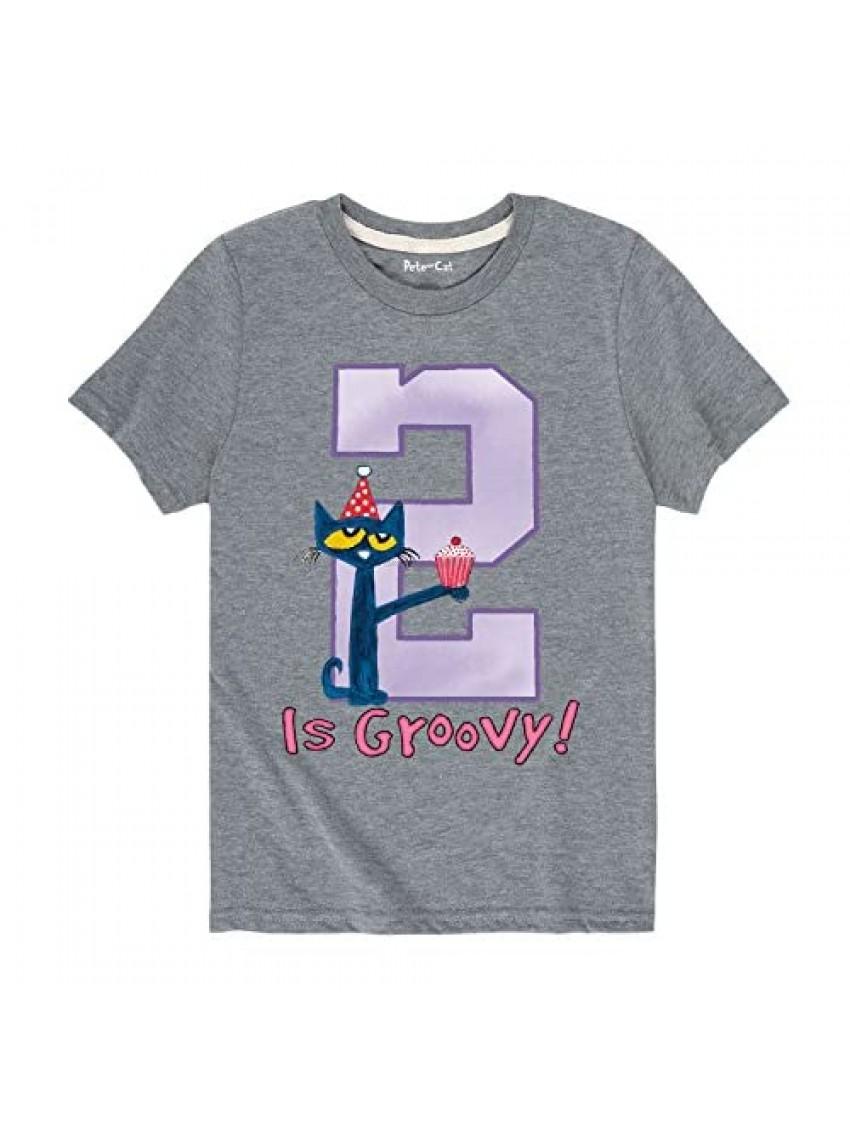 Pete the Cat 2Nd Birthday Girls - Toddler Short Sleeve T-Shirt