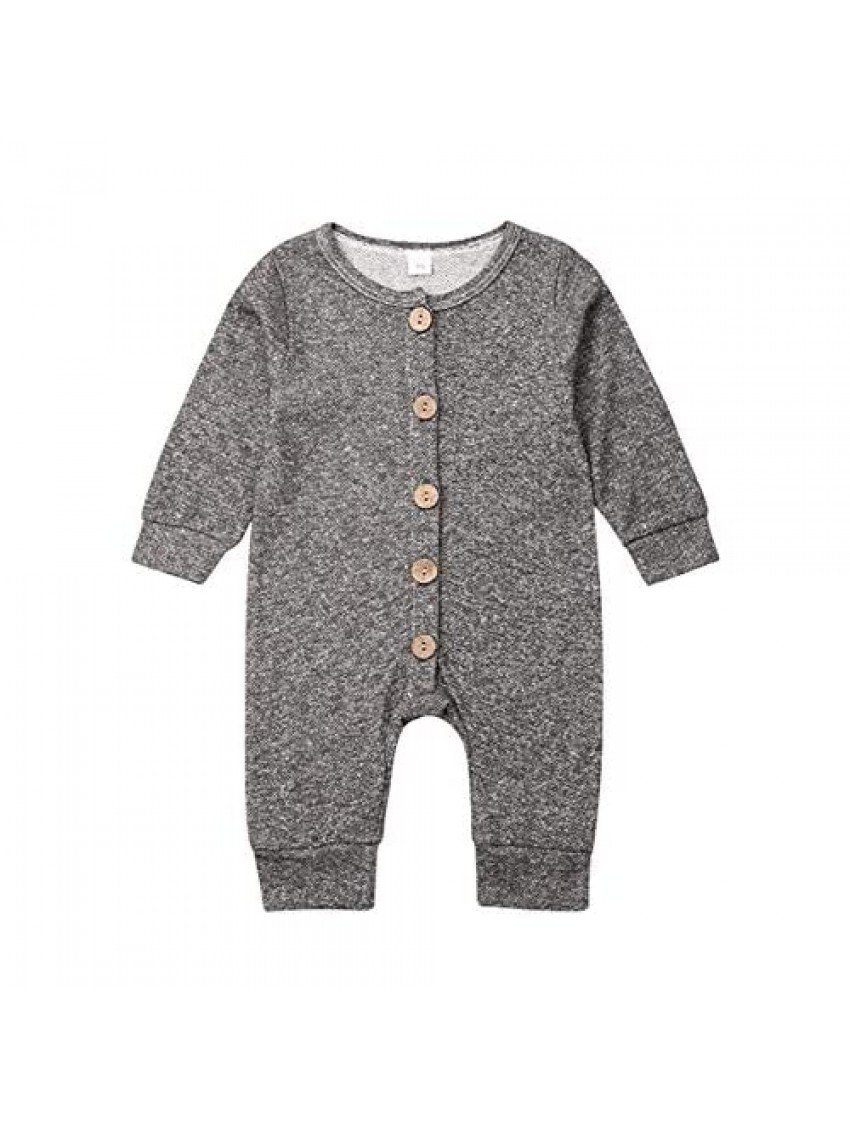 BOEBNOZCV Newborn Baby Boy Camouflage Striped Romper Outfits Long Sleeve Button Down Jumpsuit One Piece Pajamas Clothes