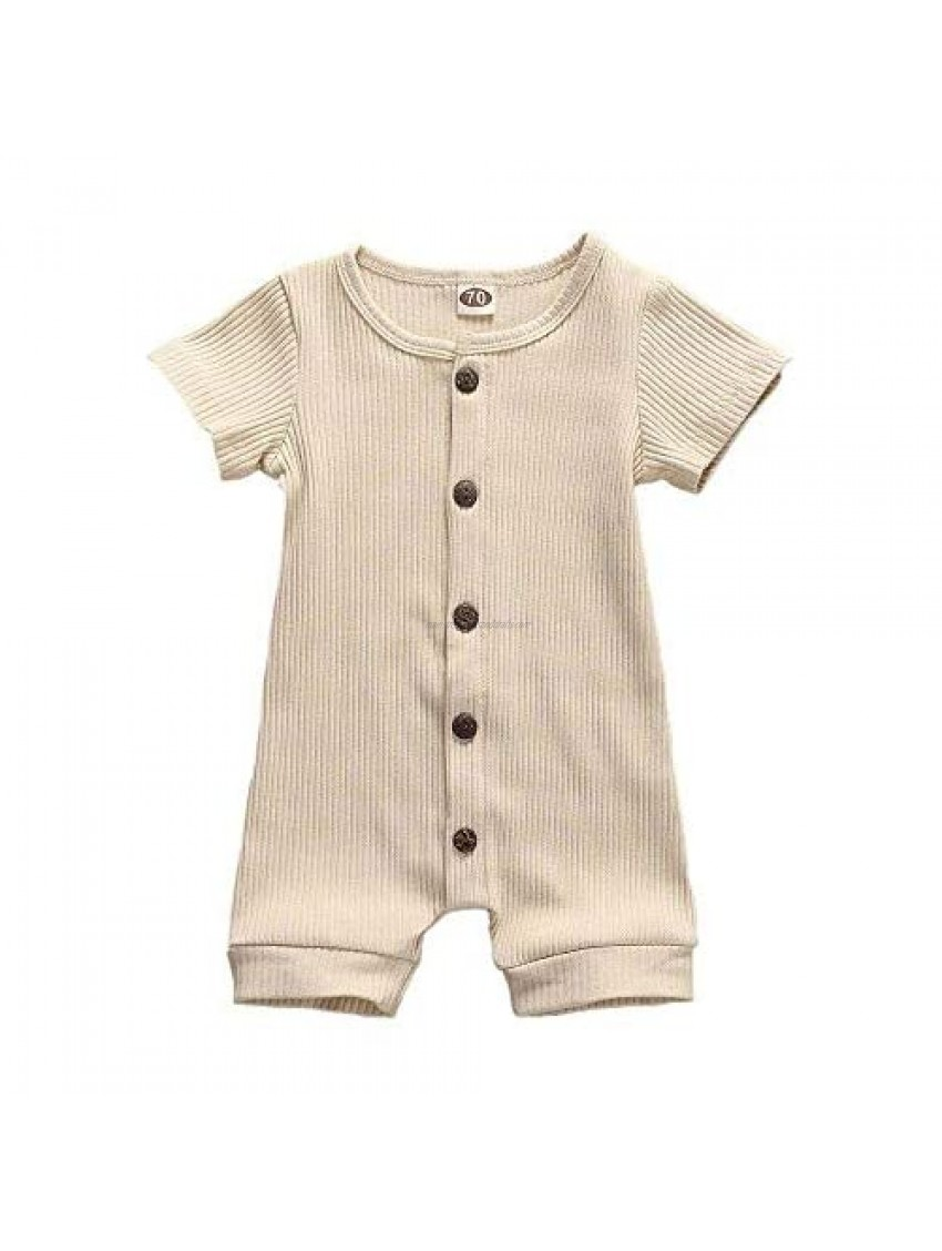 Newborn Baby Boys Girls Romper Sleeveless Vest Bodysuit Jumpsuit Outfits Overalls Clothes 0-24 M