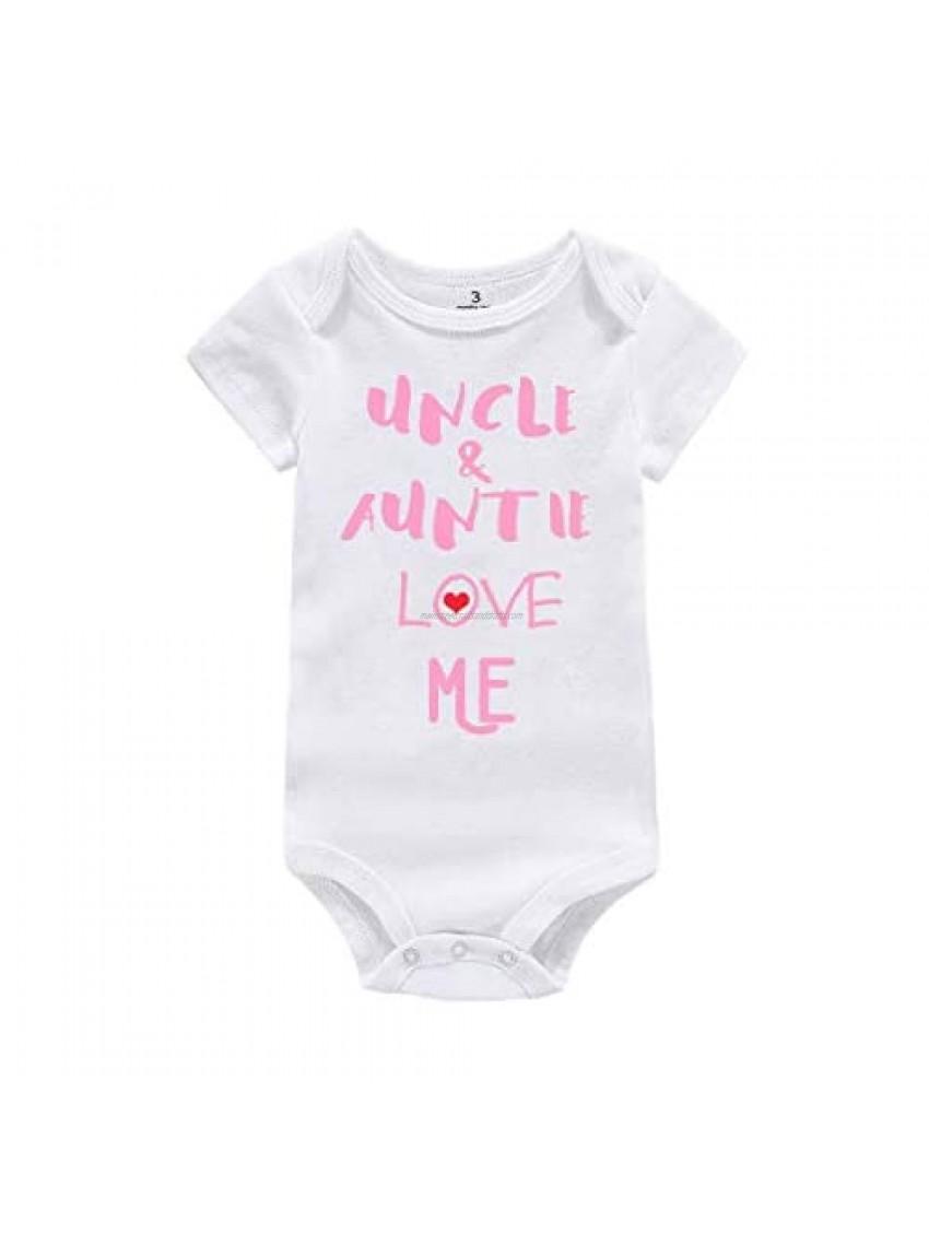 WINZIK Newborn Baby Boy Girl Bodysuit Outfit Uncle Auntie Grandpa Grandma Love Me One-piece Romper Jumpsuit Clothes