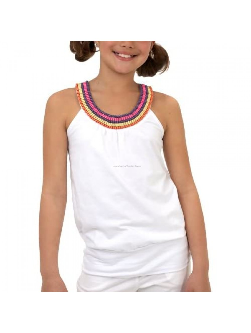 Amy Byer Big Girls' Beaded Banded Tank Top