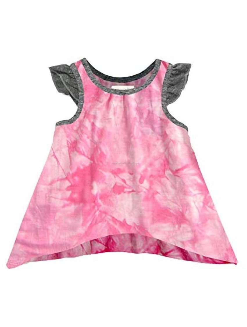 MikiMiette Little Girls Tank Top Soft  Cotton Tie Die Shirt Perfect for Play or Naptime
