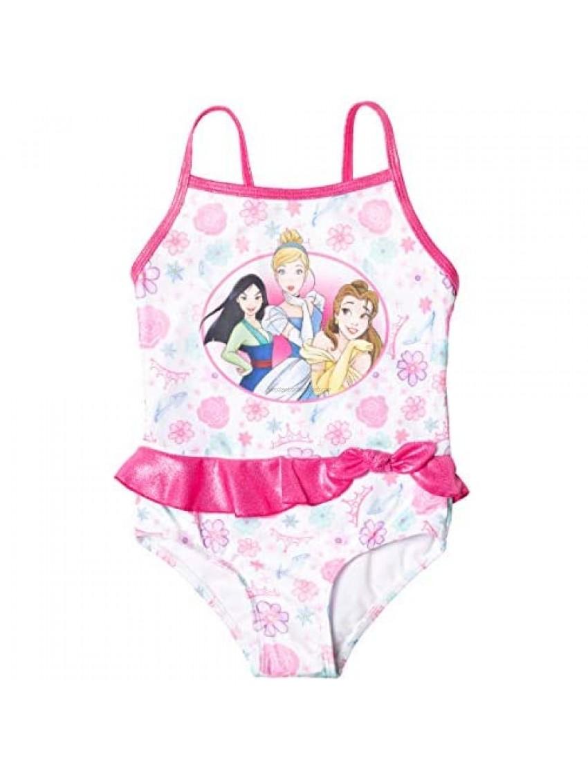 Disney Princess Cinderella Mulan Belle Toddler Girls One Piece Bathing Suit