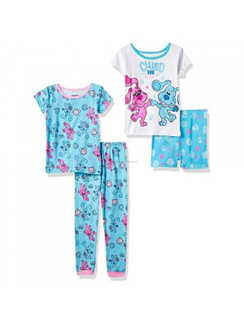 Nickelodeon Girls Clues Snug Fit Cotton Pajamas  Blues and Magenta  2T