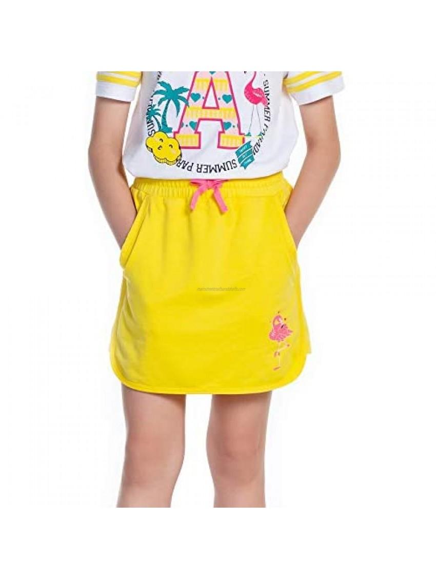 M.D.K Girls Summer Animal Cartoon Print Pull On Sport Mini Skirts