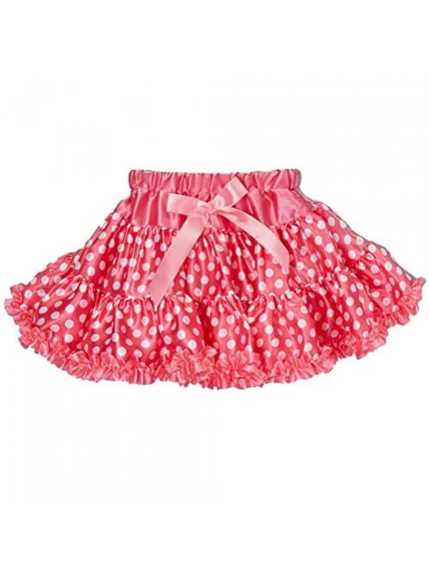 wenchoice Hot Pink Polka Dot Satin Tutu Skirt Girl's
