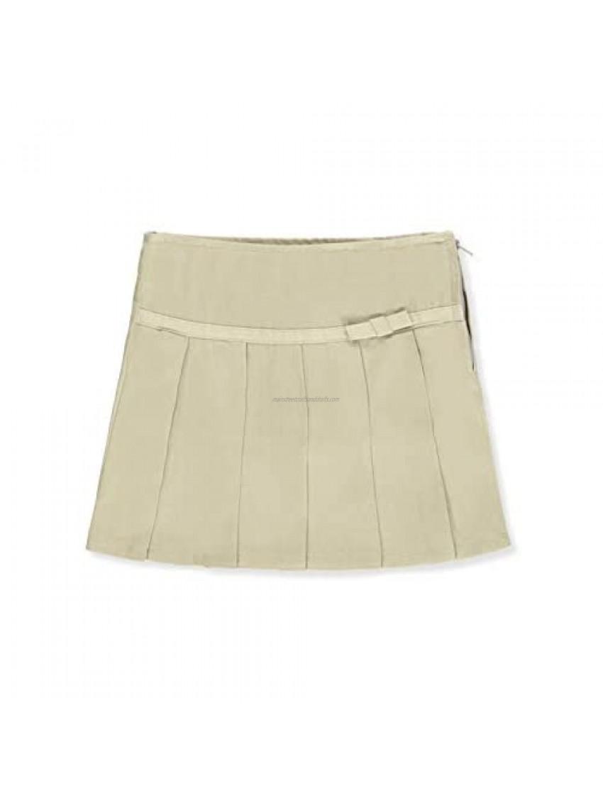 French Toast Big Girls Pleated Scooter Skirt - Khaki  20