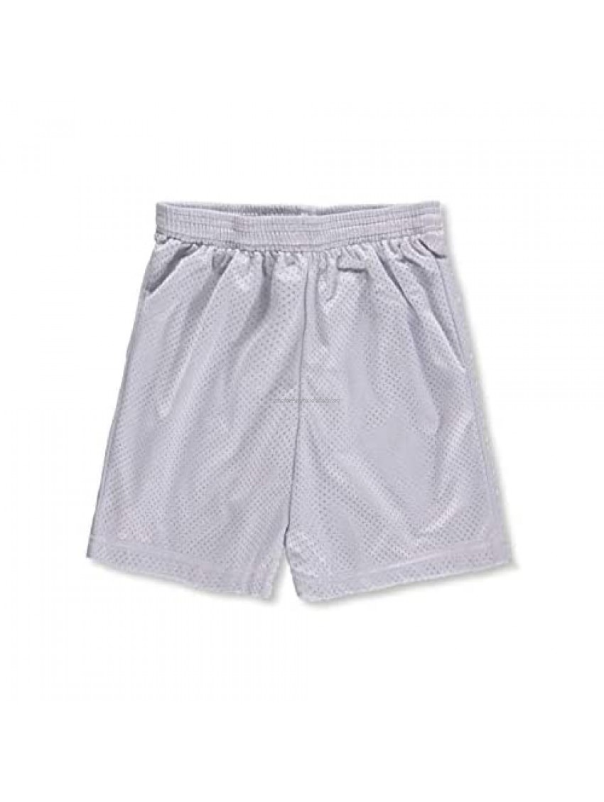 A4 Youth Athletic Shorts - Silver  s/6-8