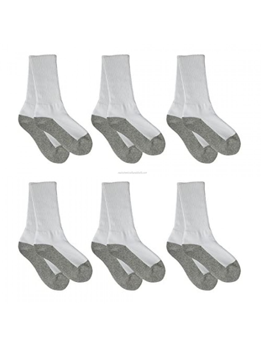 Country Kids Unisex Organic Cotton Breathable Athletic Crew Sport Socks  Half Cushion  Seamless Toe  Pack of 6
