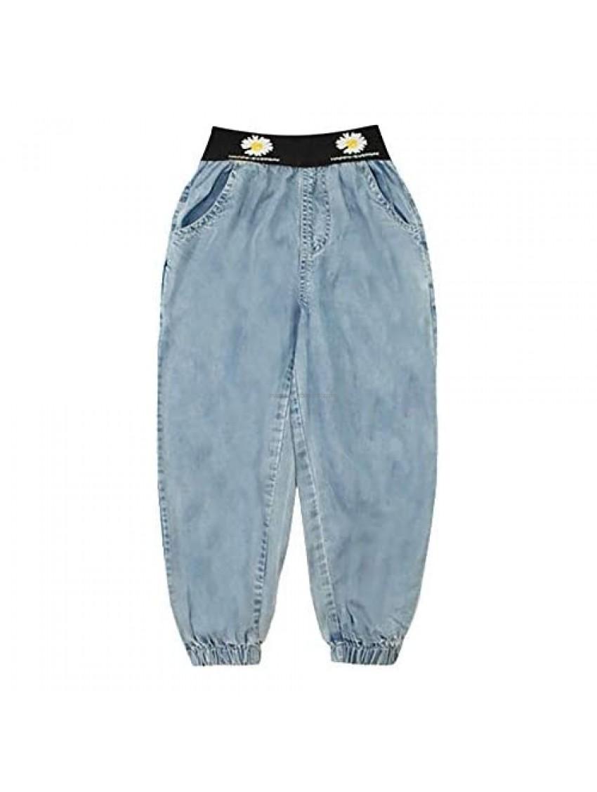 winying Kid Girl Boy Athletic Elastic Waist Pocket Side Baggy Cargo Pants Joggers Casual Sweatpants