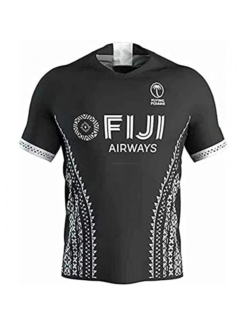 LQWW 2020 Fiji Rugby Jersey  Home/Away Fiji Rugby Fans T-Shirt Casual Sports Rugby Fiji Training Short Sleeve (Color : Away  Size : 3X-Large)