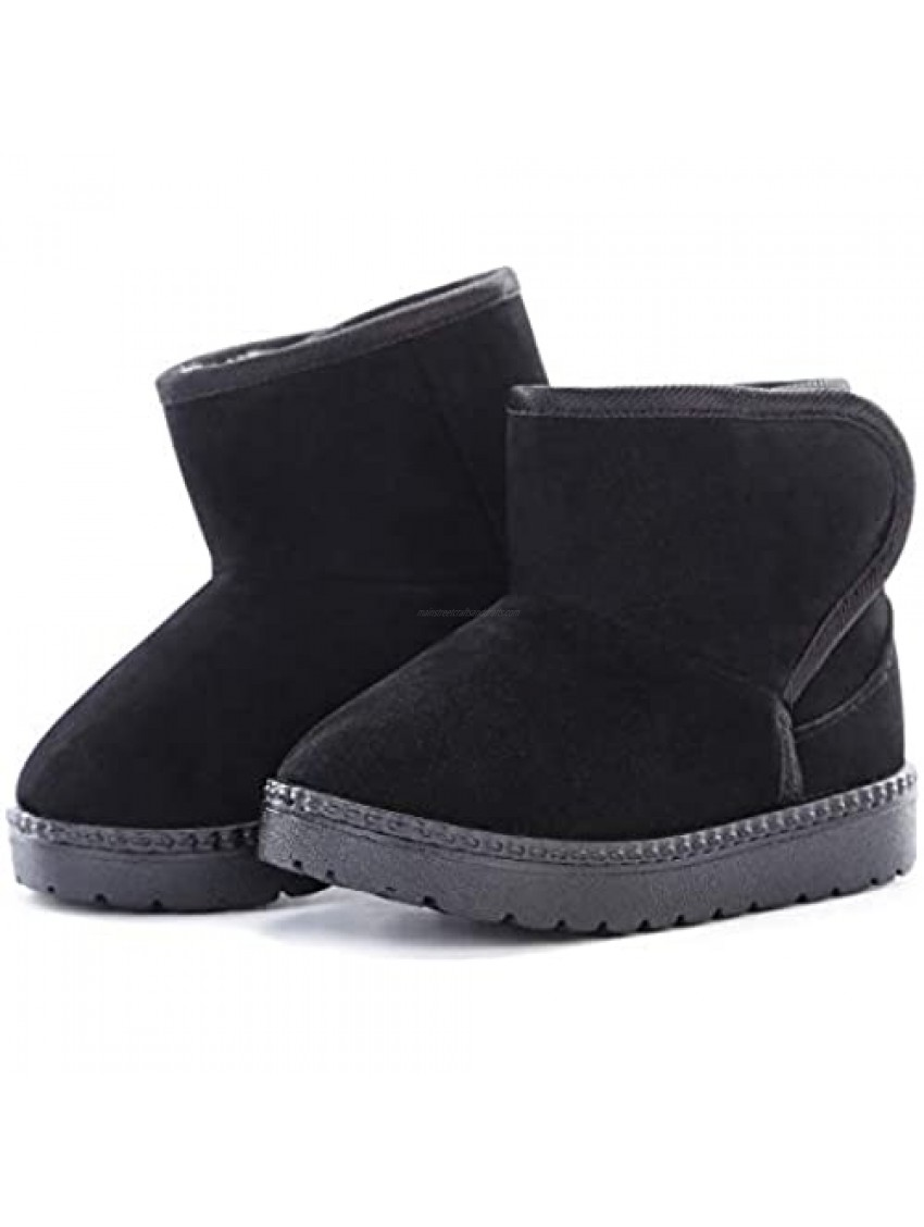 KDHAO Baby Kids Comfortable Casual Shoes Winter Girls Boys Lovely Hiking Snow Boots(Todder/Little Kid)