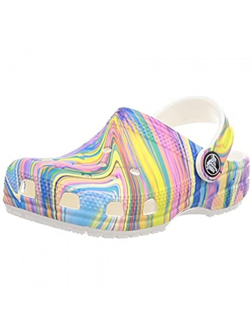 Crocs unisex child Kids' Classic Tie Dye | Slip on Shoes for Boys and Girls Clog  Pastel Swirl  2 Little Kid US