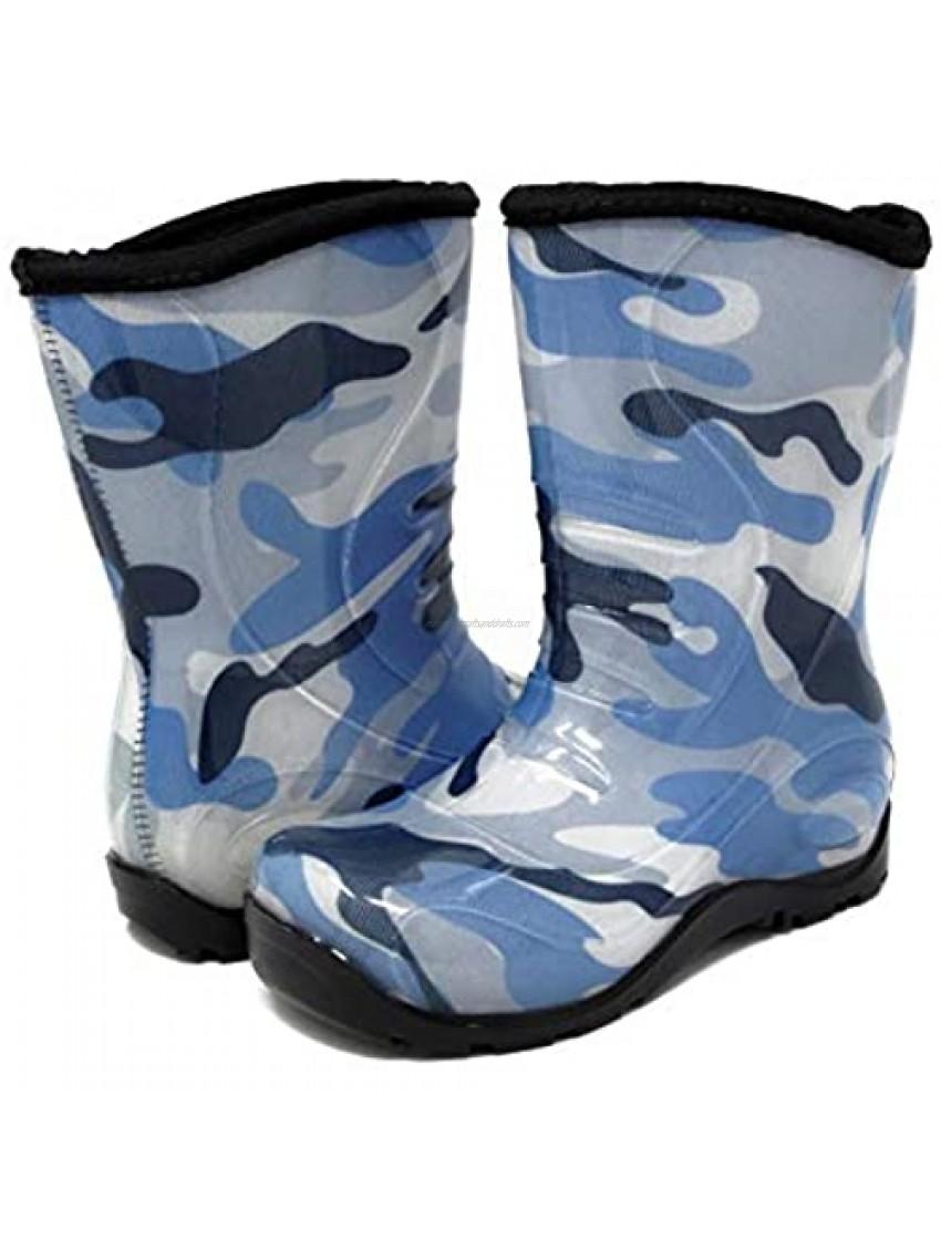Pally Kids Camouflage Blue Rain Boot  Blue Black 11 M US