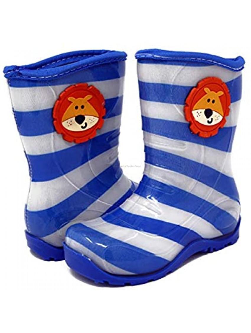 Pally Kids Lion Rain Boot  Blue Gray 1.5 M US