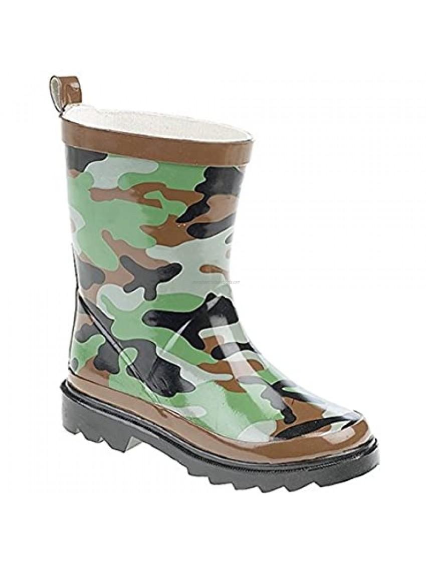 StormWells Childrens/Kids Camouflage Print Rain Boots