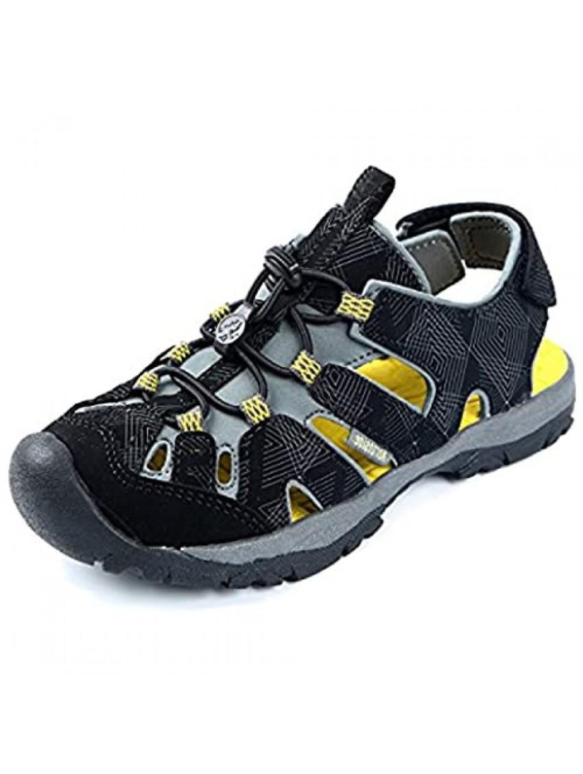 Northside Kid's Burke SE Athletic Summer Sandal  Black/Yellow  10 M US Toddler; with a Waterproof Wet Dry Bag
