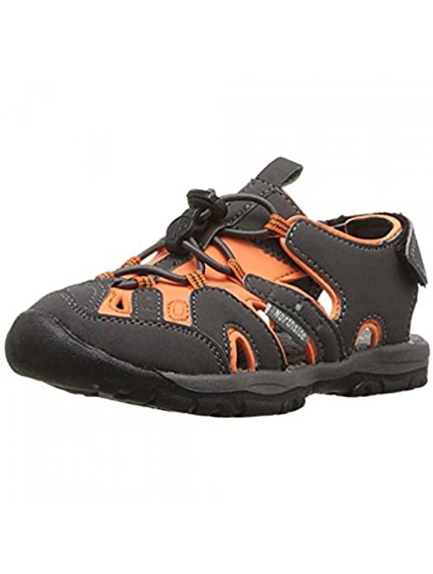 Northside Kid's Burke SE Athletic Summer Sandal  Gray/Orange  6 M US Toddler; with a Waterproof Wet Dry Bag