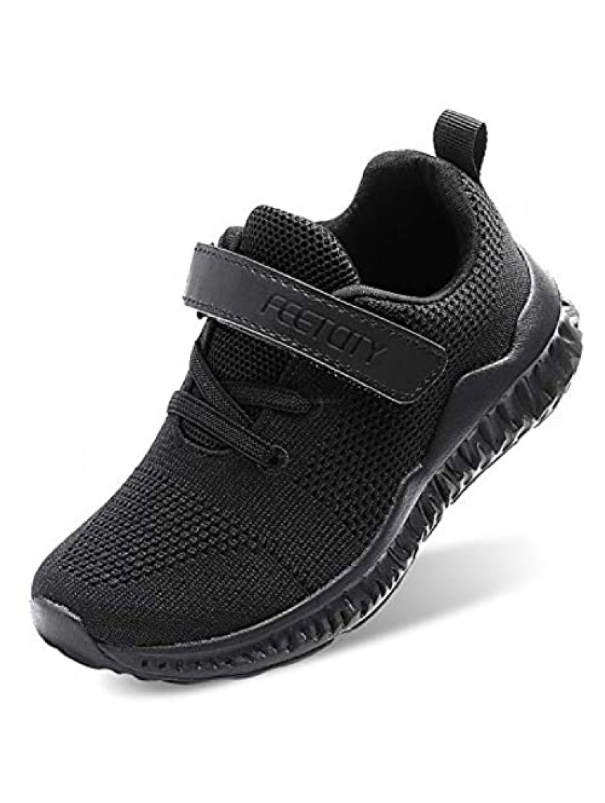 FEETCITY Toddler/Little/Big Boys Girls Sneakers Kids Lightweight Breathable Tennis Running Athletic Shoes