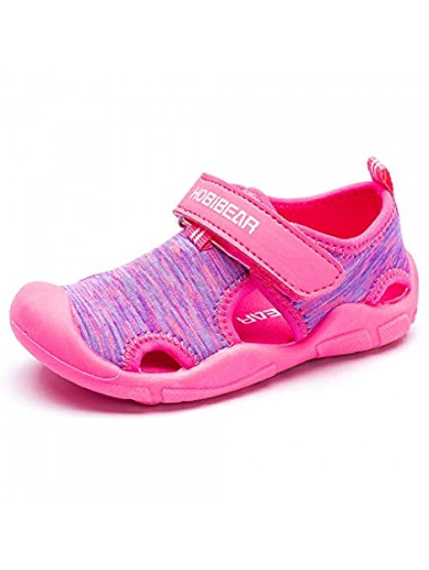 Boys Girls Water Shoes Quick Dry Closed-Toe Sport Sandals for Beach Swim Outdoor (Toddler/Little Kid)
