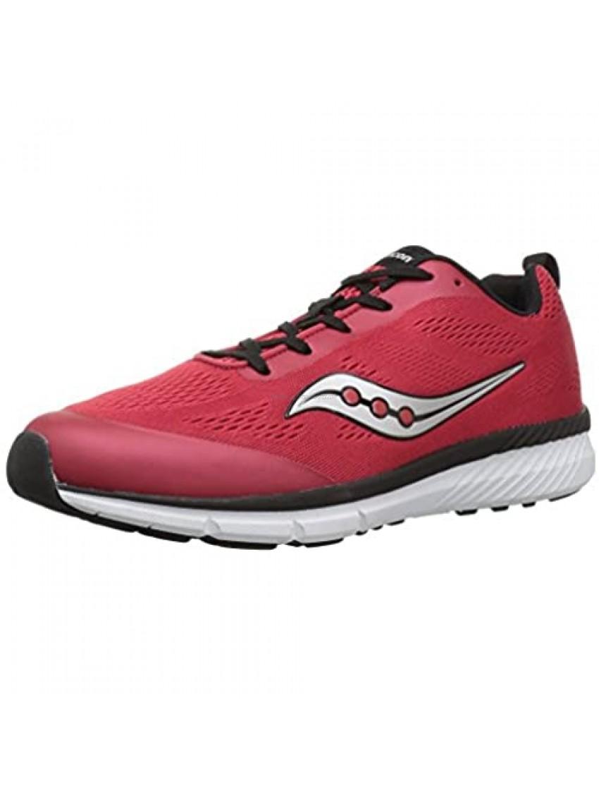Saucony Unisex-Child Ideal Running Shoe  Red  3.5 Wide US Little Kid