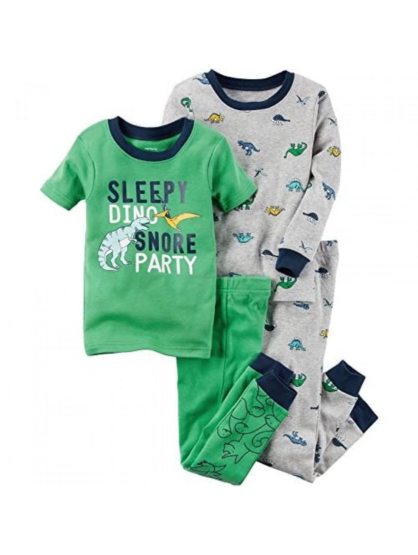 Carter's Boys' 12M-8 4 Piece Dinosaur Print Pajama Set 12 Months