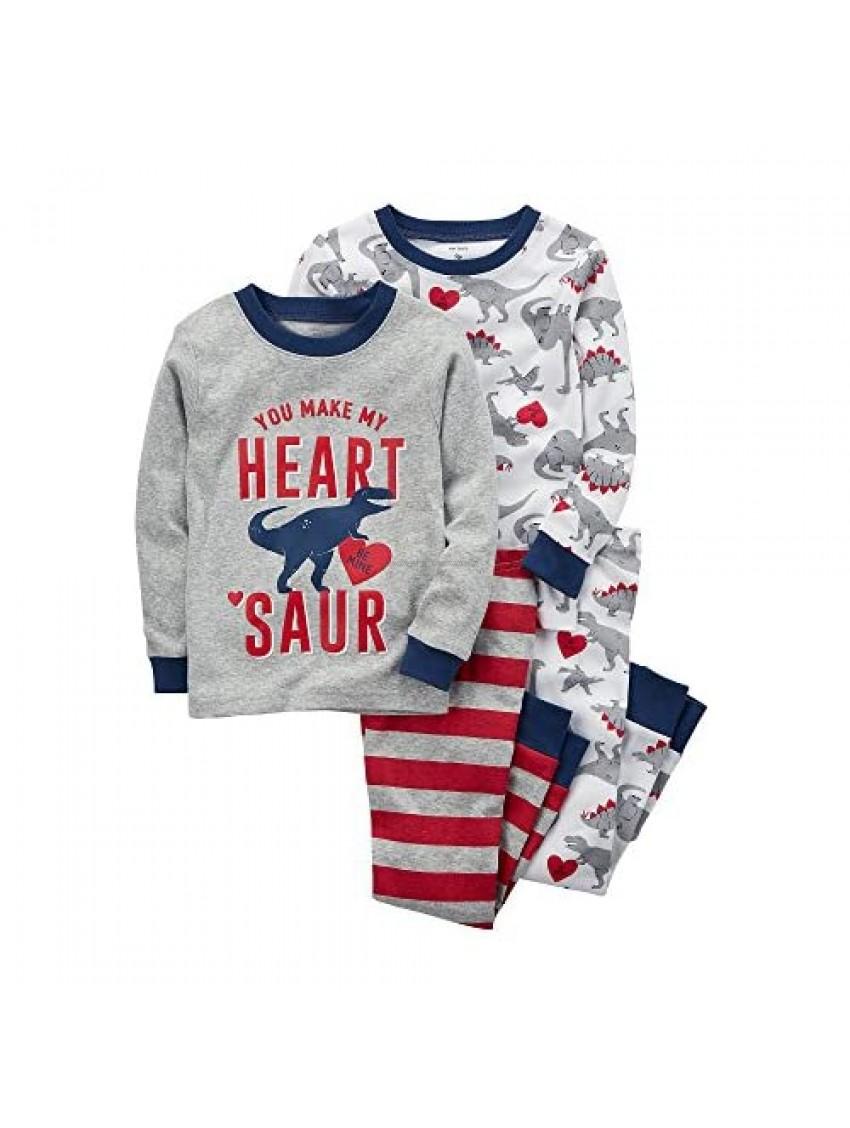 Carter's Boys' 2T-20 4-Pc. Dinosaur Snug Fit Cotton Pajamas 12 Months