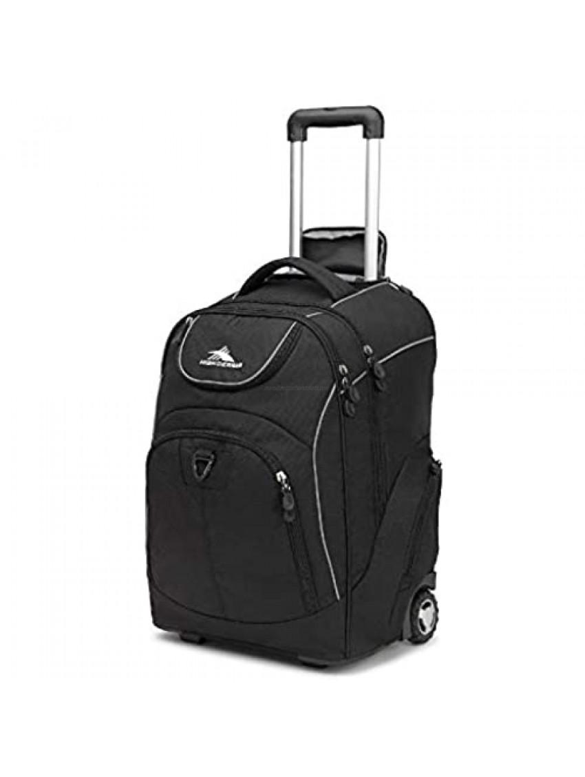 High Sierra Powerglide Wheeled Backpack  Black  One Size