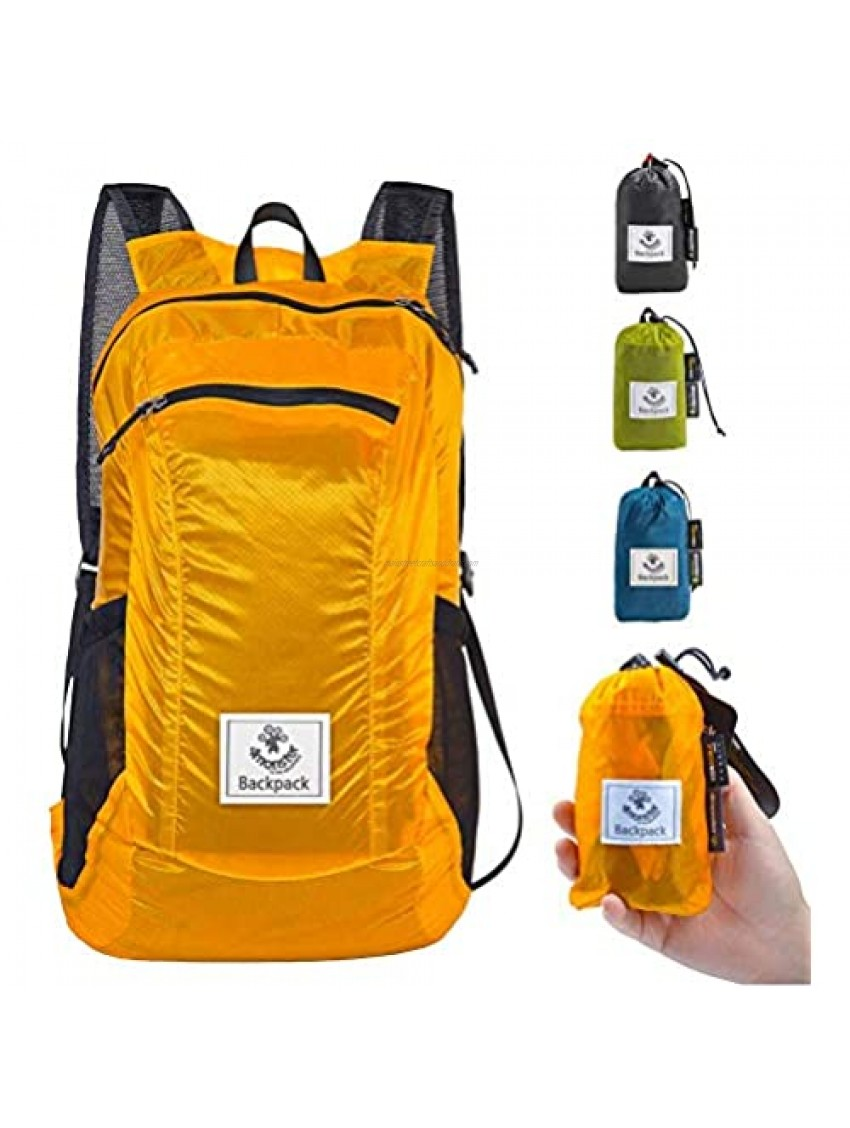 4Monster Hiking Daypack Water Resistant Lightweight Packable Backpack for Travel Camping Outdoor
