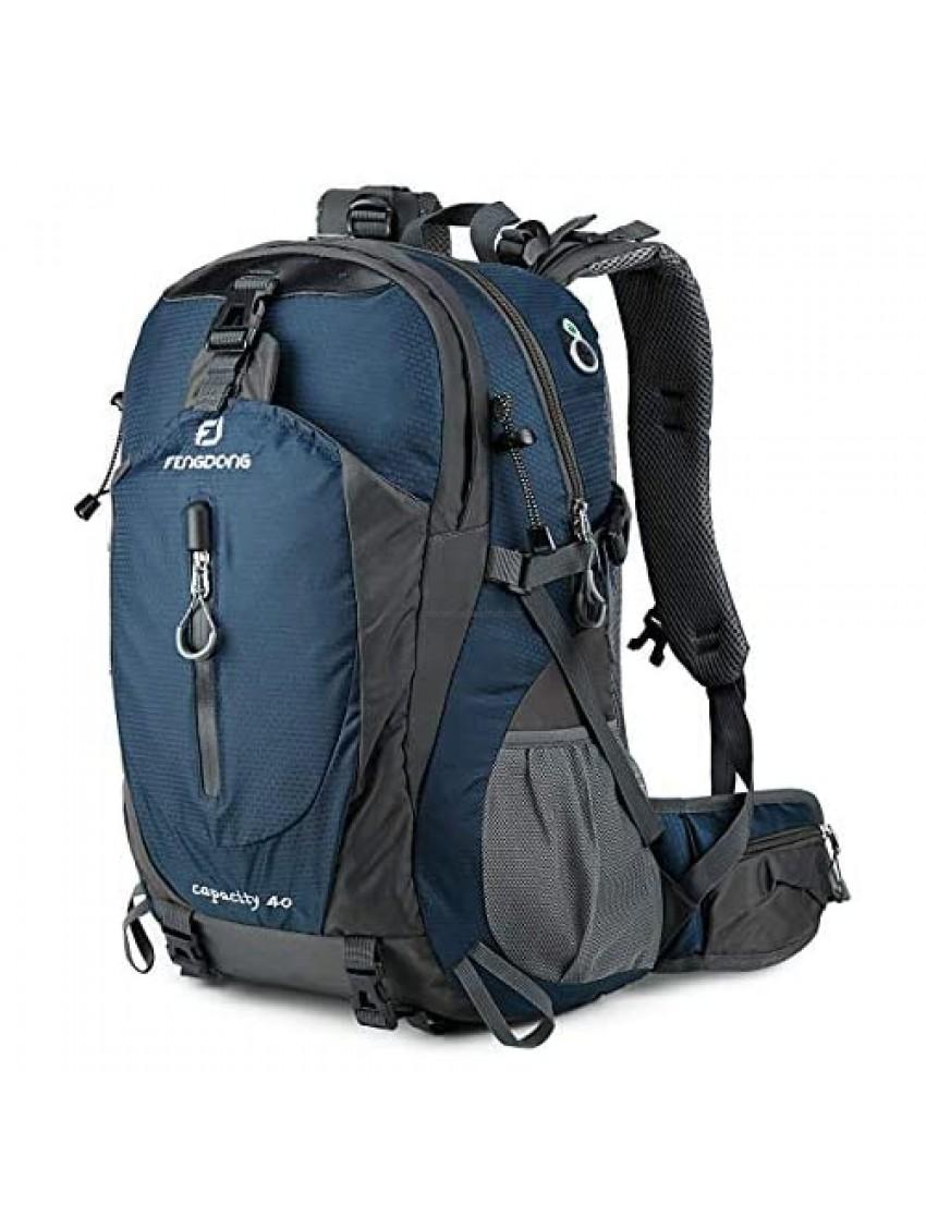 FENGDONG 40L Waterproof Lightweight Hiking Camping Travel Backpack for Men Women