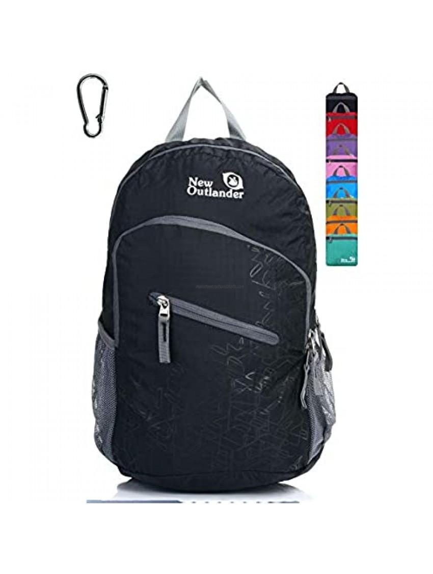 Outlander Packable Handy Lightweight Travel Hiking Backpack Daypack  Black