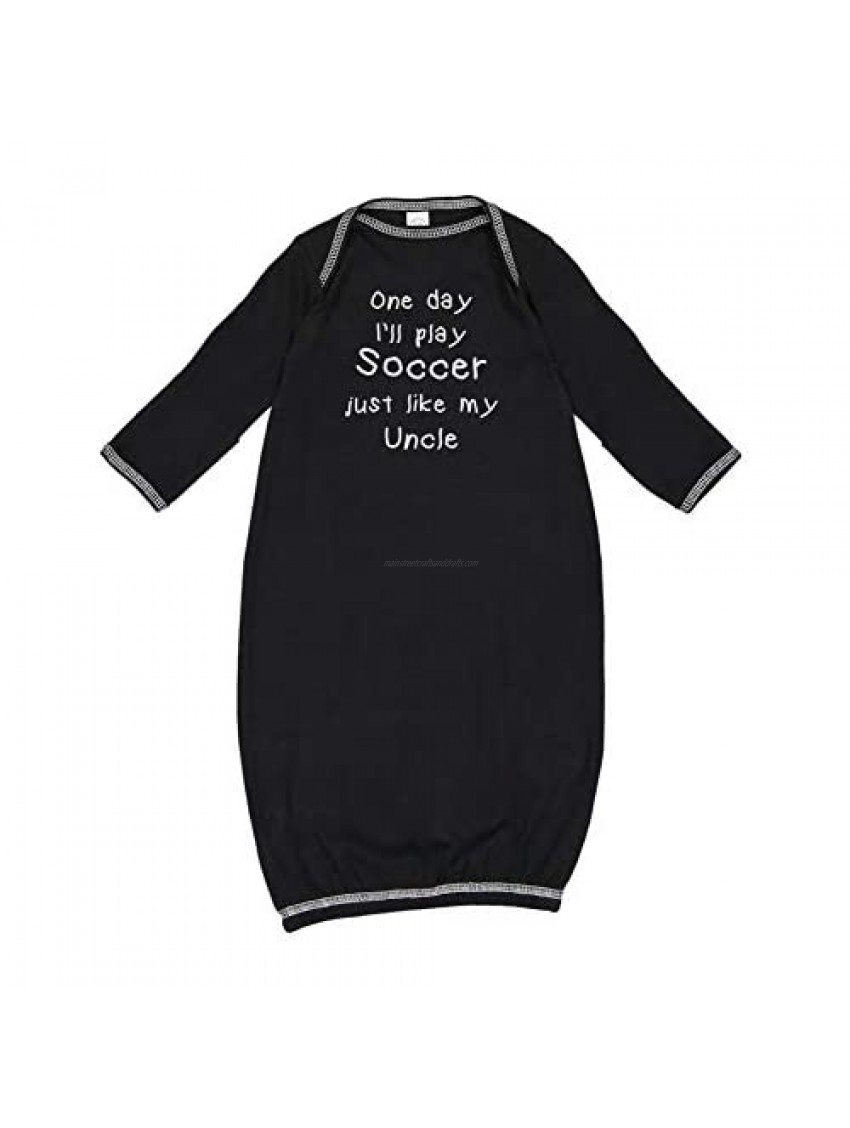 One Day I'll Play Soccer Just Like My Uncle - Baby Cotton Sleeper Gown