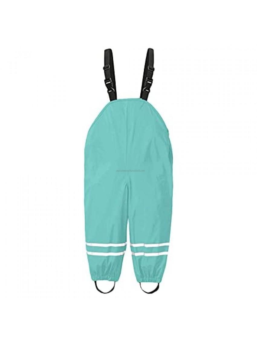 Short Sleeve Footless Romper Toddler Kids Boys Girls Rain Dungarees Windproof Waterproof Mud Clothes