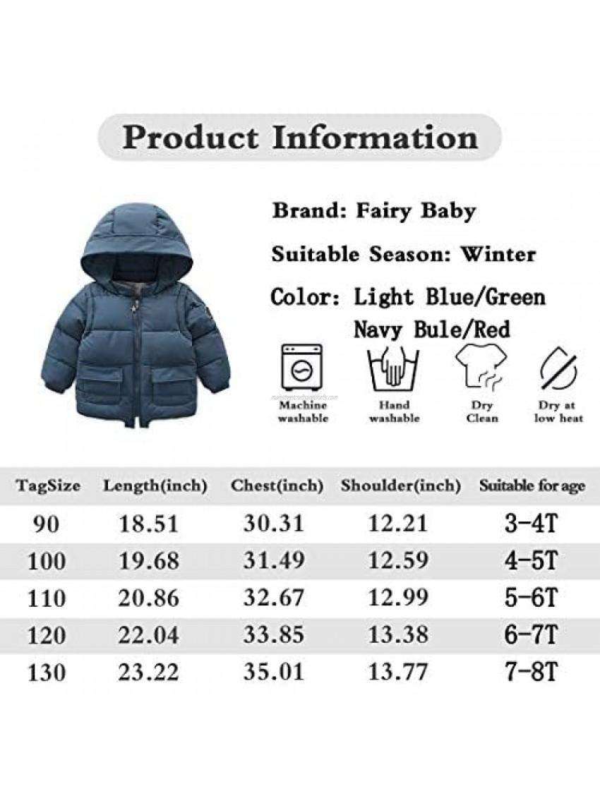 Baby Boy Versatile Winter Jacket Coat for Toddler Kids