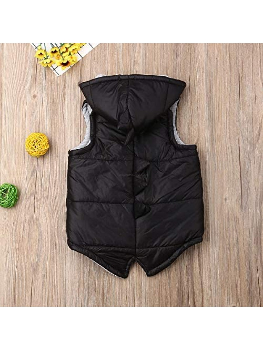 Toddler Baby Winter Hooded Jacket Little Kids Boy Girl Lining Cotton Thick Outerwear Coat