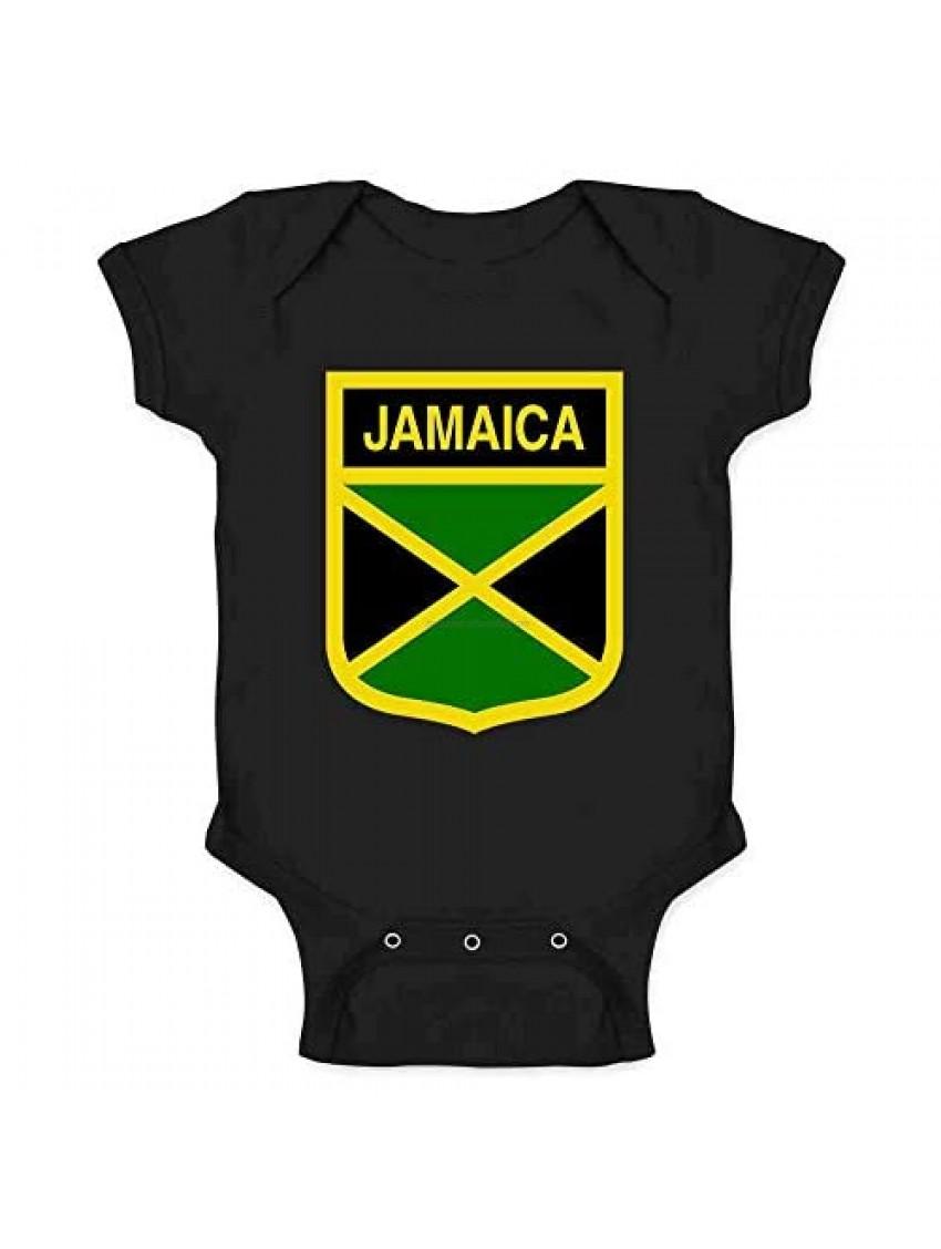Jamaica Soccer Football National Team Crest Infant Baby Boy Girl Bodysuit