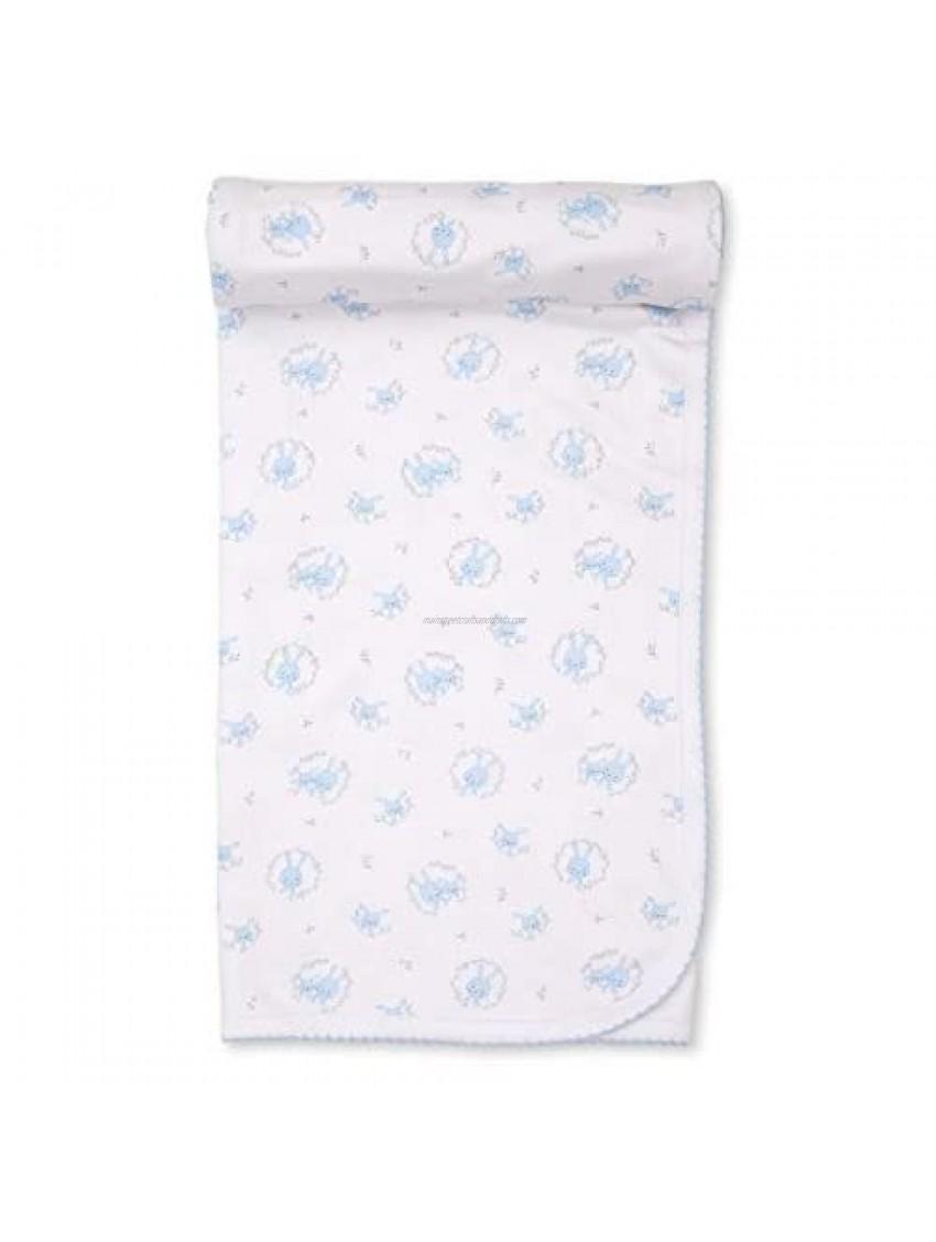 Kissy Kissy Baby-Boys Infant Bunny Hugs Print Receiving Blanket