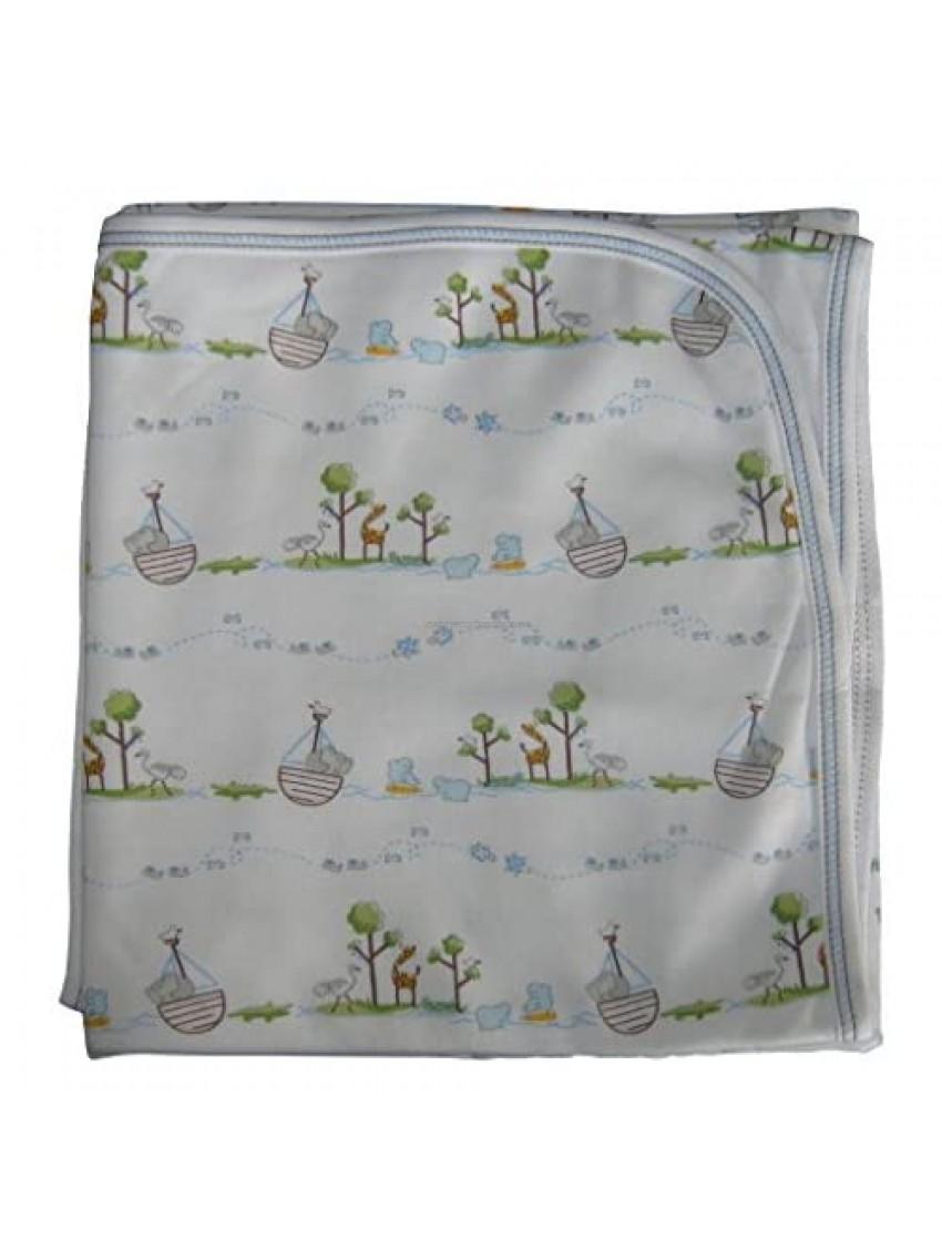 Kissy Kissy Baby-Boys Infant Noah's Print Receiving Blanket