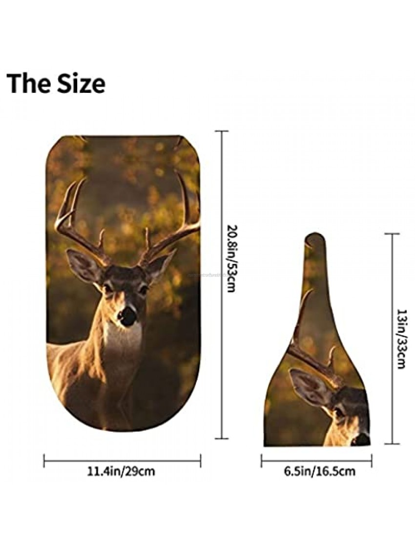 Newborn Swaddle Blanket Baby Receiving Blankets Swaddle Wrap Blanket Cute Deer with Beanie Hat Soft for Baby Boy Girl Gifts