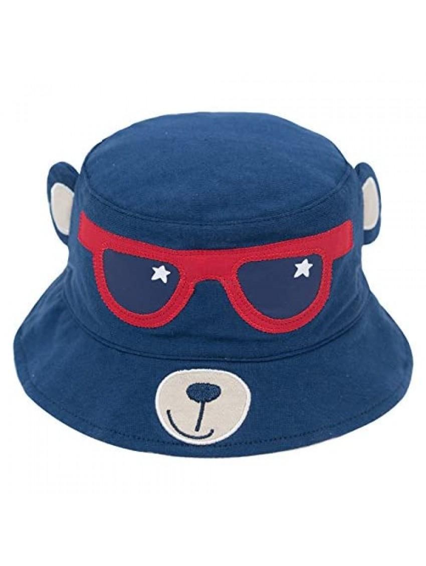 ERISO Toddler Sun Hat Cartoon   Baby Boy Bucket Summer Caps Breathable Stay-On