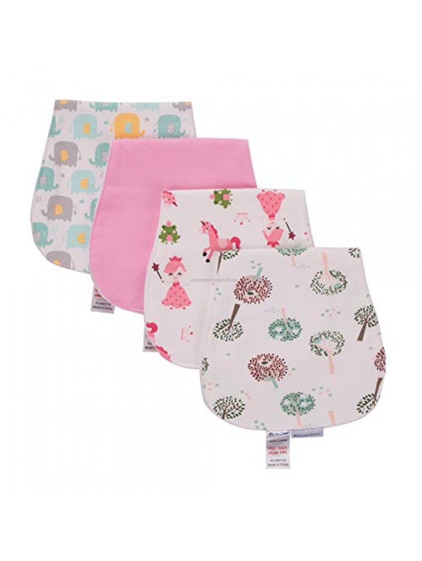 4 Pack Baby Burp Cloths  Triple Layer  Soft and Absorbent Towels Set  Burping Rags for Newborns Gift